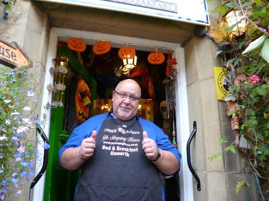 Mike owner of Ye Sleeping House Bed and Breakfast in Haworth
